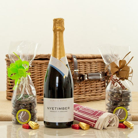 Nyetimber English Sparkling Wine and Chocolates Hamper