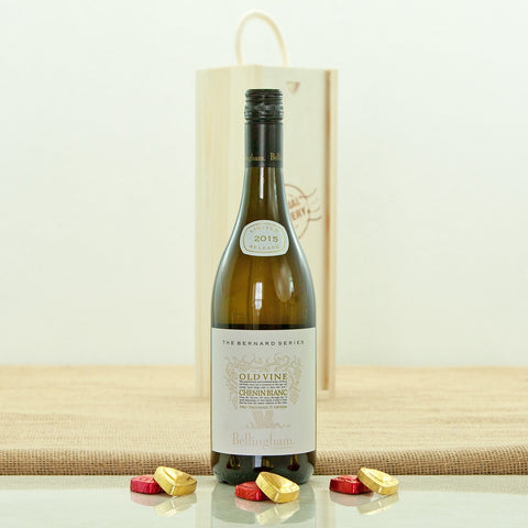 South African Old Vine Chenin Blanc in a Special Delivery Wooden Box