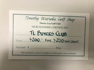TL Buyers Club - $250 Shop Credit for $200