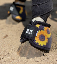 Load image into Gallery viewer, Black Sunflower Bell Boots