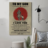 (D148) Samurai poster - Dad to Son - I love you