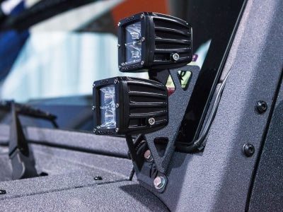 2007-20017 Jeep JK Dual D-Series A Pillar Mount