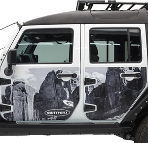 SB Black Mag-Armor Magnetic Trail Skin for JK 4-Door - 76994