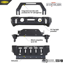 Load image into Gallery viewer, Smittybilt Stryker Front Bumper for 07 to 18+ Jeep Wrangler and Gladiator - 76730