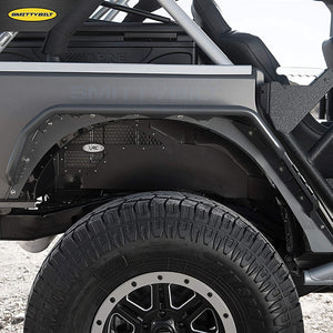 SB XRC Fender Liners, Rear Pair, for 2007-2018 Jeep Wrangler JK - 76986