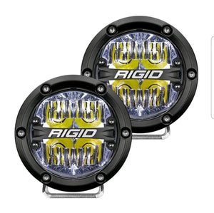 "Rigid 360 4"" Drive White Pair"