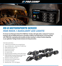 Load image into Gallery viewer, Pro Comp 6 LED Rock Light Kit - 76501