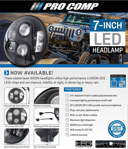 Pro Comp Headlight 7