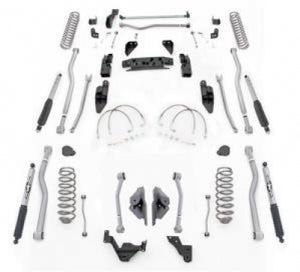 "RE 3.5"" JK Extreme-Duty Long Arm Kit with Monotube Shocks - RE4443MR"