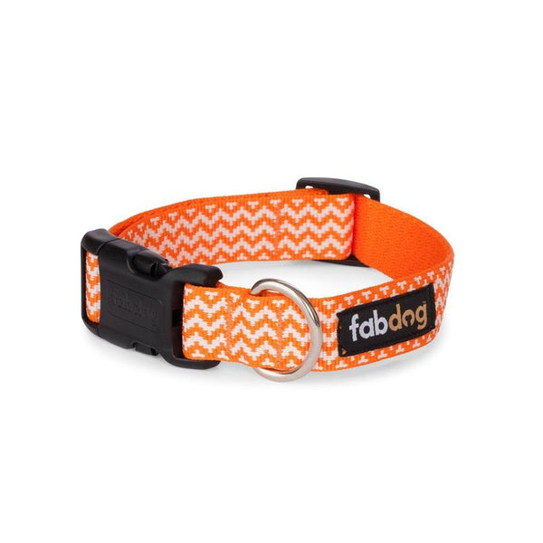 Orange Chevron Collar