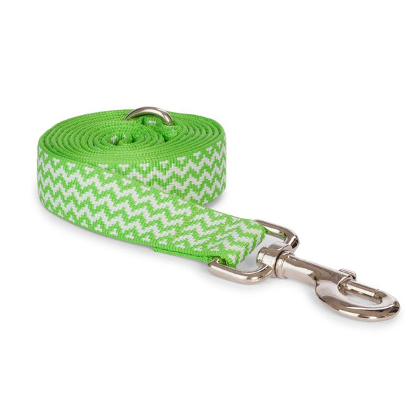 Green Chevron Leash
