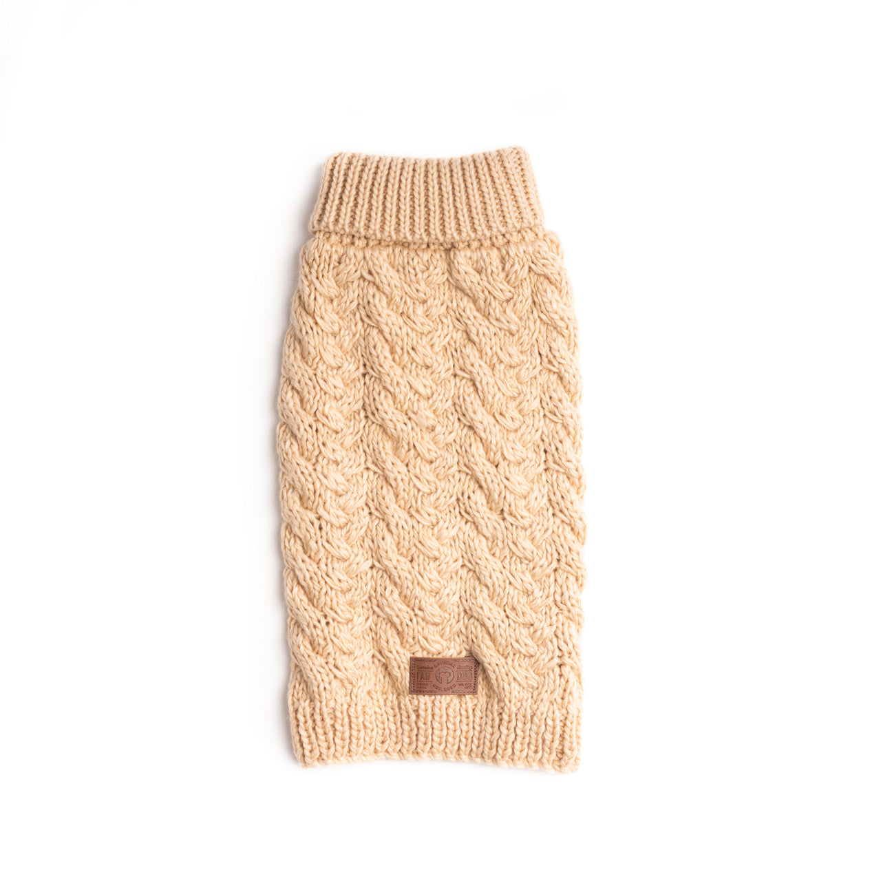 Cream Wool Turtleneck Sweater