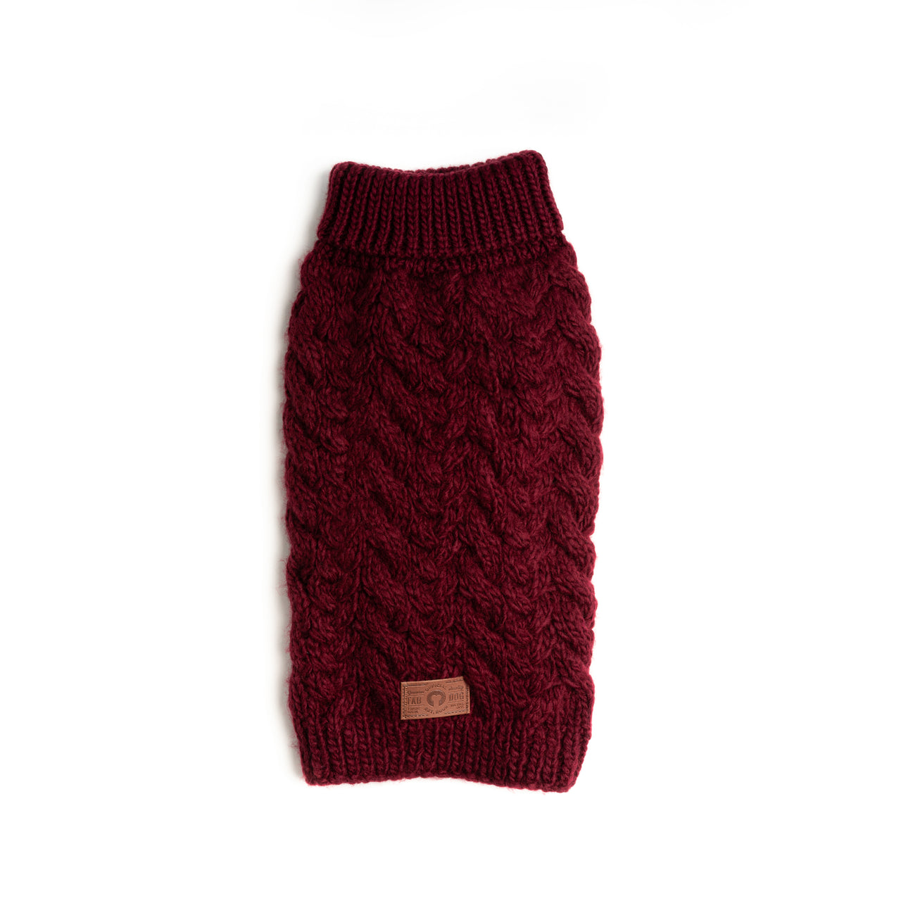 Burgundy Wool Turtleneck Sweater