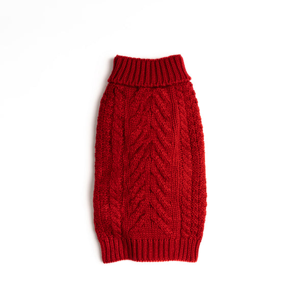 Red Super Chunky Sweater