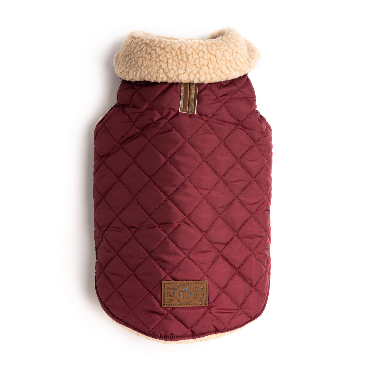 Burgundy Quilted Shearling Coat