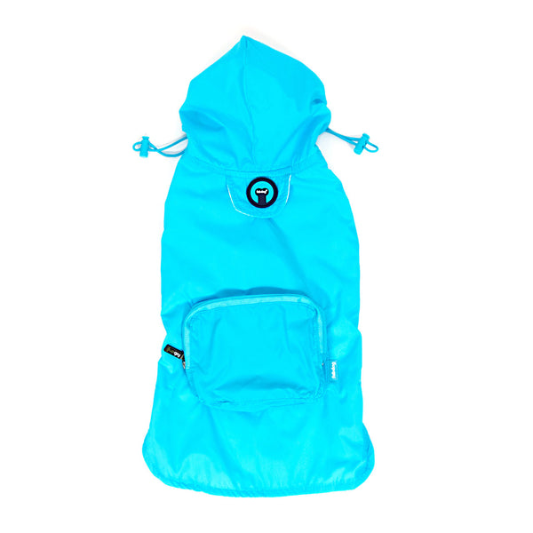 Blue Packaway Raincoat