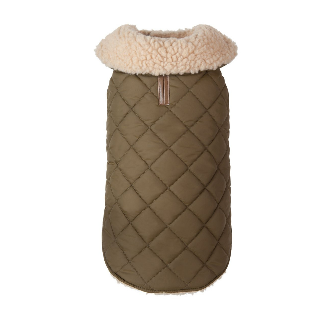 Olive Quilted Shearling
