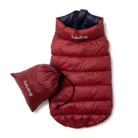 Red & Navy Pack N' Go Reversible Puffer