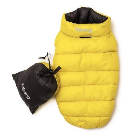 Yellow & Grey Pack N' Go Reversible Puffer