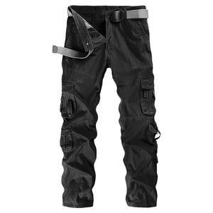 Solid Color Cargo Pants