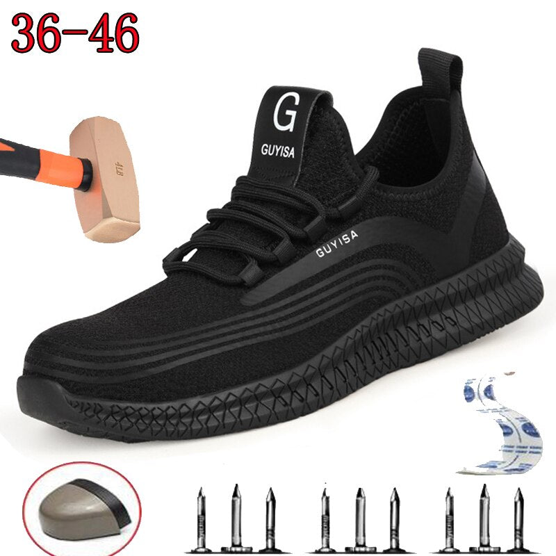 Tactical Protective Lightweight Black Shoes