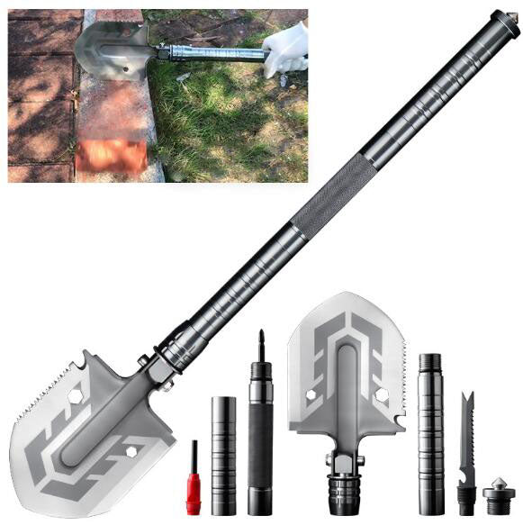Military Multi-purpose Shovel with Tools