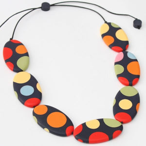 Sylca Lena polka-dot necklace