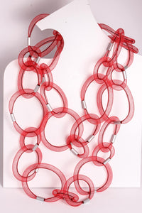 Loop Mesh Long Necklace