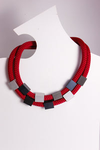 Short Corded Necklace w/ Beads