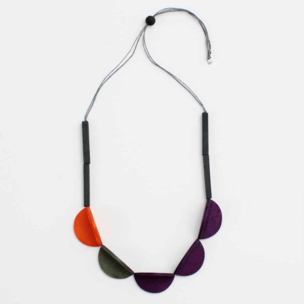 Purple - Wood Cassie Necklace - Sylca