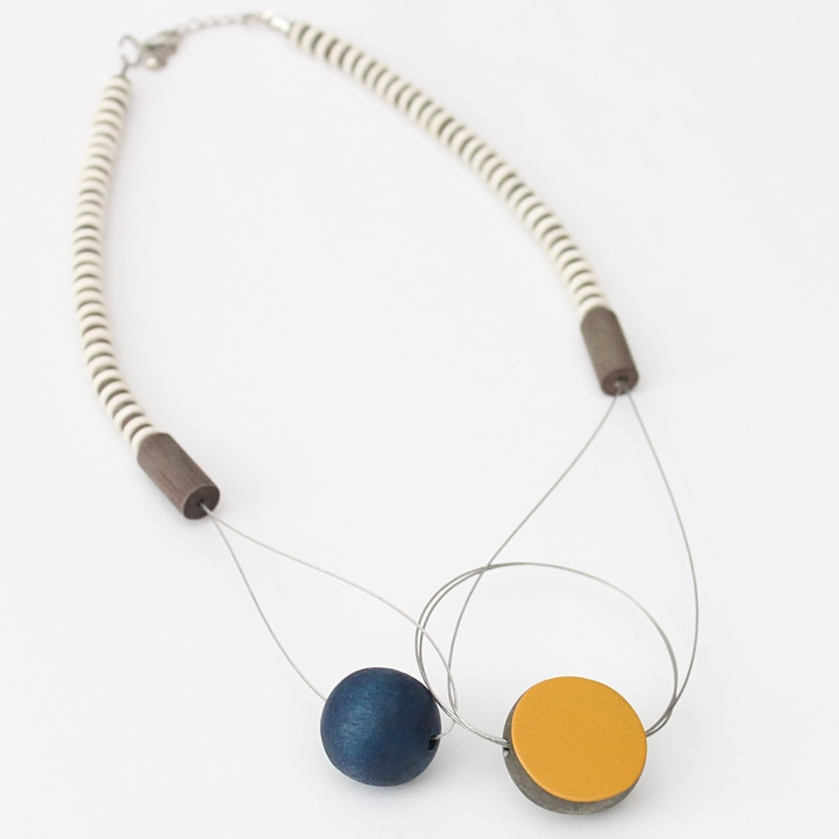 Mustard/Blue Kathy Neclace - Sylca