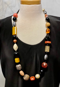 Lori Kirsch - long chunky bead necklace