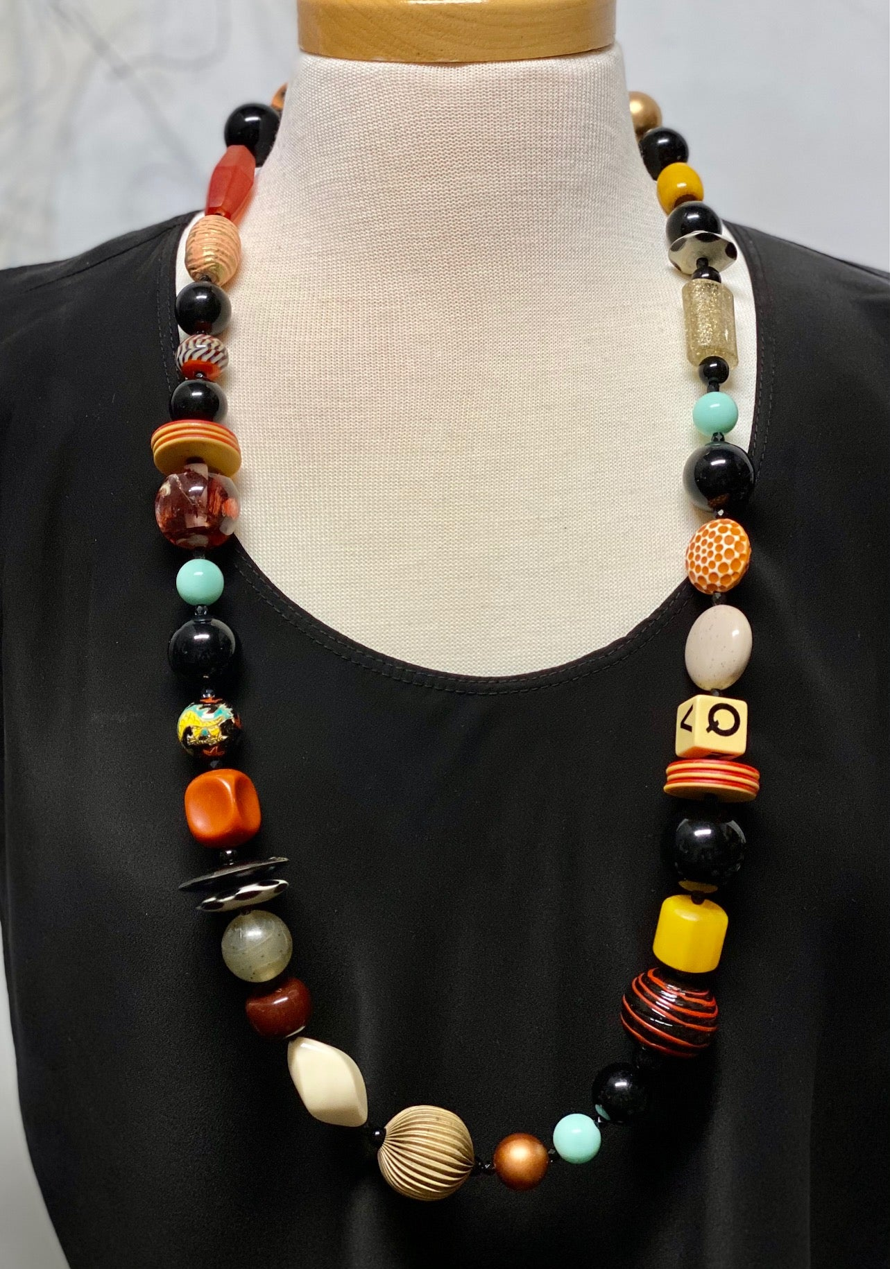Lori Kirsch long chunky necklace 36""