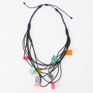 Square Multi-Strand Jackie Necklace - Sylca