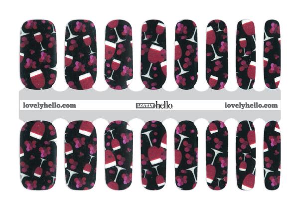 Wine Time Nail Wraps