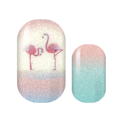 Fabulous Flamingo Nail Wraps