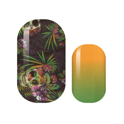 Skull Tropical Nail Wraps