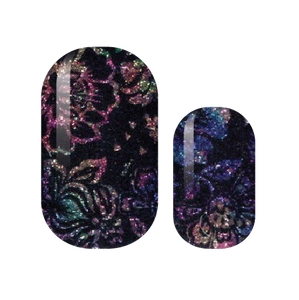Scratch Art Floral Nail Wraps