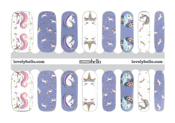 Unicorns are Real Nail Wrap