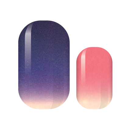 Neon Sunsets Nail Wraps