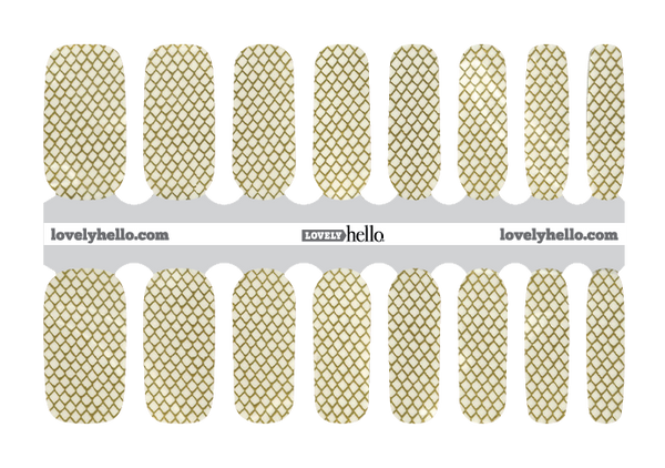 Golden Fishnet Nail Wraps