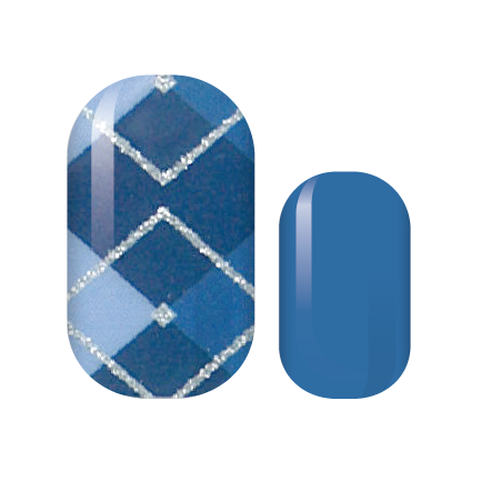 Blue Argile Nail Wraps