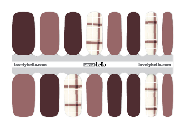 Chic Maroon and Mauve Nail Wraps