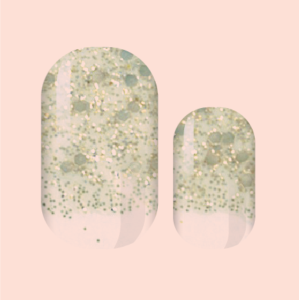 Antique Gold Confetti Nail Wraps