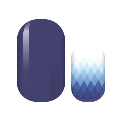Royal Blue Diamonds Nail Wraps