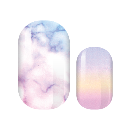 Unicorn Marble Nail Wraps