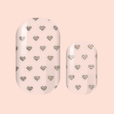 Hearts of Rose Gold Nail Wraps