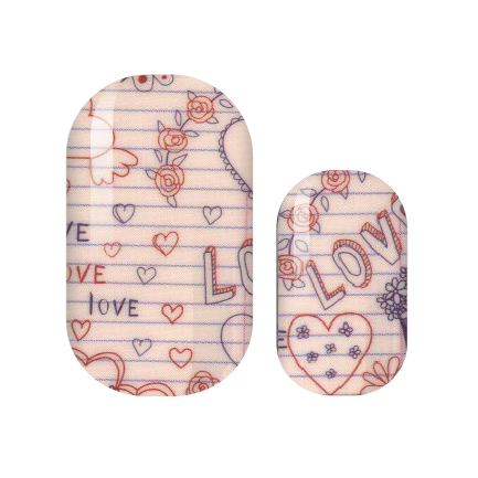 Love Note Doodles Nail Wraps