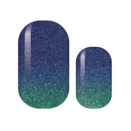 Deep Ocean Waters Glam Nail Wraps