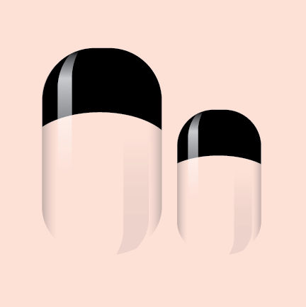 Black  French Nail Wrap
